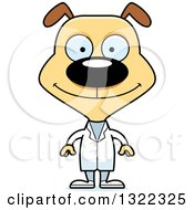 Clipart Of A Cartoon Happy Dog Doctor Royalty Free Vector Illustration
