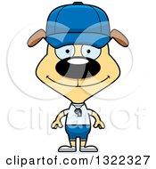 Clipart Of A Cartoon Happy Dog Sports Coach Royalty Free Vector Illustration