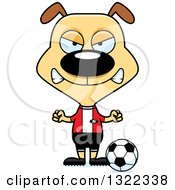 Clipart Of A Cartoon Mad Dog Soccer Player Royalty Free Vector Illustration