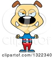 Clipart Of A Cartoon Mad Dog Super Hero Royalty Free Vector Illustration