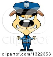 Clipart Of A Cartoon Mad Dog Police Officer Royalty Free Vector Illustration by Cory Thoman