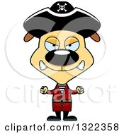 Clipart Of A Cartoon Mad Pirate Dog Royalty Free Vector Illustration