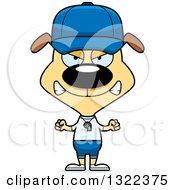 Clipart Of A Cartoon Mad Dog Sports Coach Royalty Free Vector Illustration