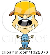 Cartoon Mad Dog Construction Worker
