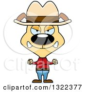 Clipart Of A Cartoon Mad Cowboy Dog Royalty Free Vector Illustration