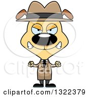 Clipart Of A Cartoon Mad Dog Detective Royalty Free Vector Illustration