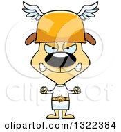 Clipart Of A Cartoon Mad Dog Hermes Royalty Free Vector Illustration