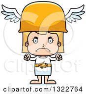 Clipart Of A Cartoon Mad Blond White Hermes Girl Royalty Free Vector Illustration