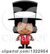 Clipart Of A Cartoon Happy Black Girl Circus Ringmaster Royalty Free Vector Illustration