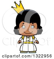 Clipart Of A Cartoon Happy Black Girl Princess Royalty Free Vector Illustration by Cory Thoman