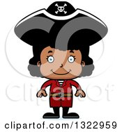 Clipart Of A Cartoon Happy Black Girl Pirate Royalty Free Vector Illustration