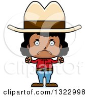 Clipart Of A Cartoon Mad Black Cowgirl Royalty Free Vector Illustration by Cory Thoman