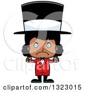Clipart Of A Cartoon Mad Black Girl Circus Ringmaster Royalty Free Vector Illustration