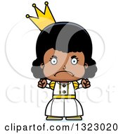 Clipart Of A Cartoon Mad Black Girl Princess Royalty Free Vector Illustration by Cory Thoman