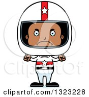 Clipart Of A Cartoon Mad Black Boy Race Car Driver Royalty Free Vector Illustration