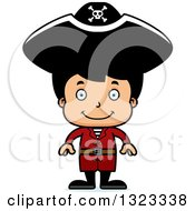 Clipart Of A Cartoon Happy Hispanic Boy Pirate Royalty Free Vector Illustration