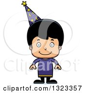 Clipart Of A Cartoon Happy Hispanic Wizard Boy Royalty Free Vector Illustration