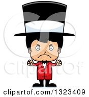 Clipart Of A Cartoon Mad Hispanic Boy Circus Ringmaster Royalty Free Vector Illustration by Cory Thoman