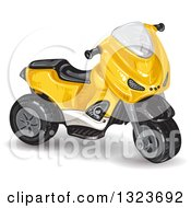 Clipart Of A Yellow Tough Trike Toy Royalty Free Vector Illustration by merlinul