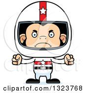 Clipart Of A Cartoon Mad Chimpanzee Monkey Race Car Driver Royalty Free Vector Illustration