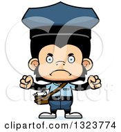 Clipart Of A Cartoon Mad Chimpanzee Monkey Mailman Royalty Free Vector Illustration by Cory Thoman