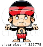 Clipart Of A Cartoon Mad Chimpanzee Monkey Lifeguard Royalty Free Vector Illustration by Cory Thoman