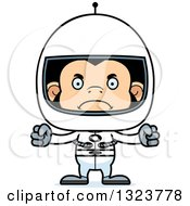 Clipart Of A Cartoon Mad Chimpanzee Monkey Astronaut Royalty Free Vector Illustration by Cory Thoman