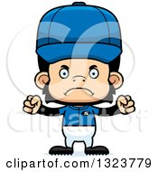 Clipart Of A Cartoon Mad Chimpanzee Monkey Baseball Player Royalty Free Vector Illustration by Cory Thoman