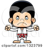 Clipart Of A Cartoon Mad Karate Chimpanzee Monkey Royalty Free Vector Illustration by Cory Thoman