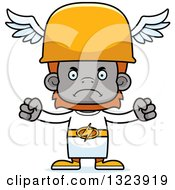 Clipart Of A Cartoon Mad Orangutan Hermes Monkey Royalty Free Vector Illustration