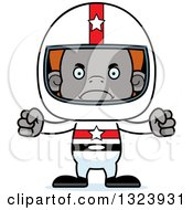 Clipart Of A Cartoon Mad Orangutan Monkey Race Car Driver Royalty Free Vector Illustration