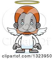 Cartoon Happy Orangutan Monkey Angel