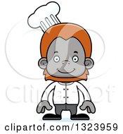 Cartoon Happy Orangutan Monkey Chef