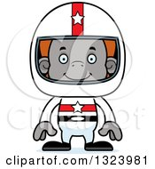Clipart Of A Cartoon Happy Orangutan Monkey Race Car Driver Royalty Free Vector Illustration