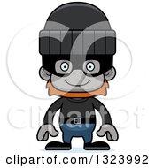 Cartoon Happy Orangutan Monkey Robber