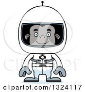 Clipart Of A Cartoon Happy Gorilla Astronaut Royalty Free Vector Illustration