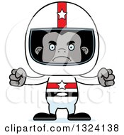 Clipart Of A Cartoon Mad Gorilla Race Car Driver Royalty Free Vector Illustration