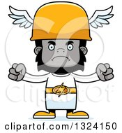 Clipart Of A Cartoon Mad Gorilla Hermes Royalty Free Vector Illustration