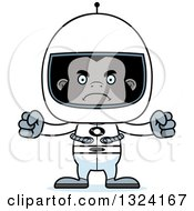 Clipart Of A Cartoon Mad Gorilla Astronaut Royalty Free Vector Illustration