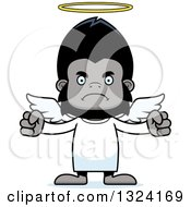 Clipart Of A Cartoon Mad Gorilla Angel Royalty Free Vector Illustration