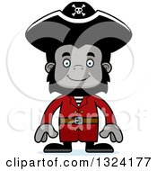 Clipart Of A Cartoon Happy Gorilla Pirate Royalty Free Vector Illustration by Cory Thoman