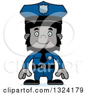 Clipart Of A Cartoon Happy Gorilla Police Officer Royalty Free Vector Illustration by Cory Thoman