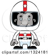 Clipart Of A Cartoon Happy Gorilla Race Car Driver Royalty Free Vector Illustration