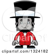 Clipart Of A Cartoon Happy Gorilla Circus Ringmaster Royalty Free Vector Illustration by Cory Thoman