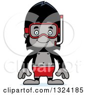 Clipart Of A Cartoon Happy Gorilla In Snorkel Gear Royalty Free Vector Illustration by Cory Thoman