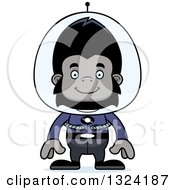 Clipart Of A Cartoon Happy Futuristic Space Gorilla Royalty Free Vector Illustration by Cory Thoman
