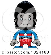 Clipart Of A Cartoon Happy Gorilla Super Hero Royalty Free Vector Illustration by Cory Thoman