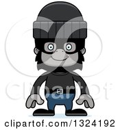 Clipart Of A Cartoon Happy Gorilla Robber Royalty Free Vector Illustration by Cory Thoman