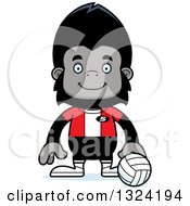 Clipart Of A Cartoon Happy Gorilla Volleyball Player Royalty Free Vector Illustration by Cory Thoman