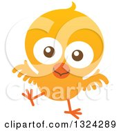 Clipart Of A Cartoon Baby Chick Royalty Free Vector Illustration
